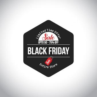 Vendita venerdì nero. nuova tipografia creativa su sfondo bianco. dal 60% al 70% di sconto
