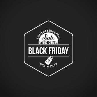 Vendita venerdì nero. nuova tipografia creativa su sfondo nero. dal 60% al 70% di sconto.