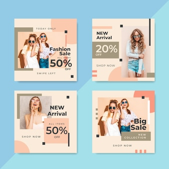 Vendite di modelli di social media template