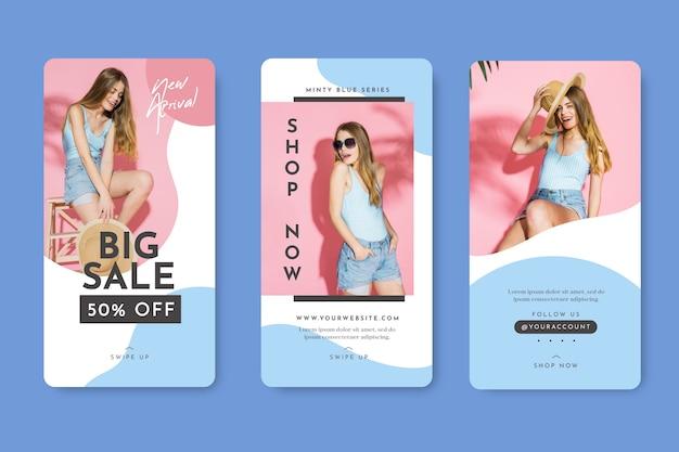Vendite di modelli di storie di instagram di abbigliamento estivo