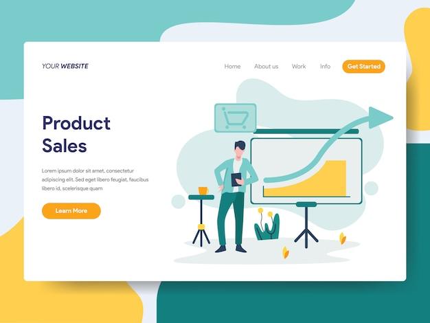 Vendite di prodotti per la pagina del sito web