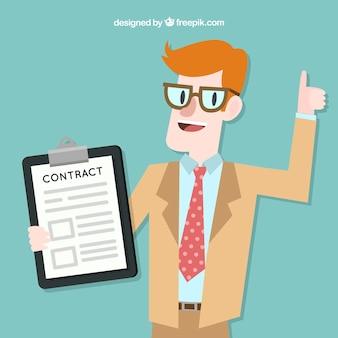 Venditore con contratto