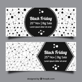 Venerdì nero banner geometriche