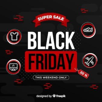 Venerdì nero concetto con vendita super