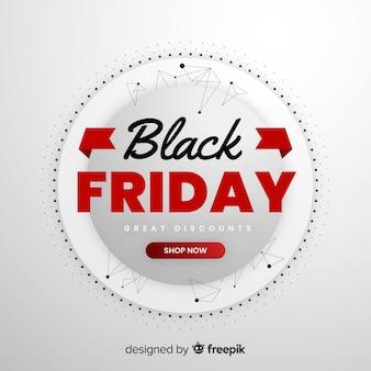Venerdì nero in design piatto
