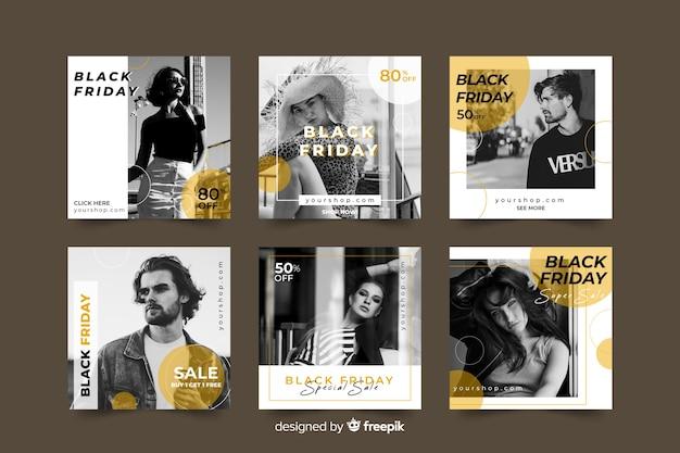 Venerdì nero instagram post collection