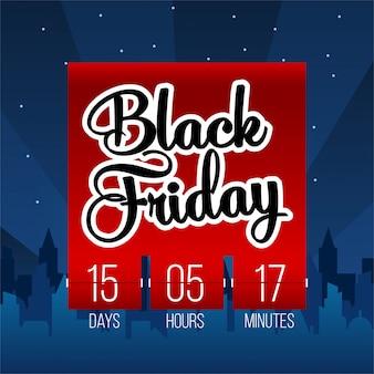 Venerdì nero offerta speciale vendita banner sullo sfondo.