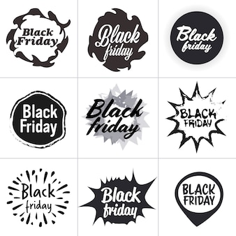 Venerdì nero offerta speciale vendita promo marketing shopping natalizio