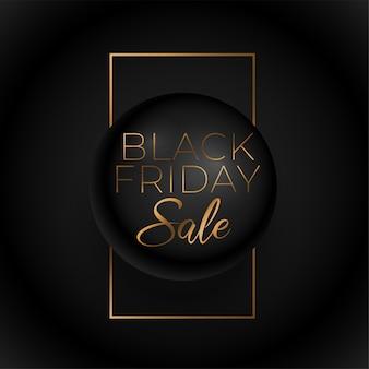 Venerdì nero premium vendita sfondo dorato