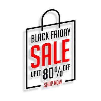 Venerdì nero shopping vendita sfondo