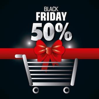 Venerdì nero stagione dello shopping