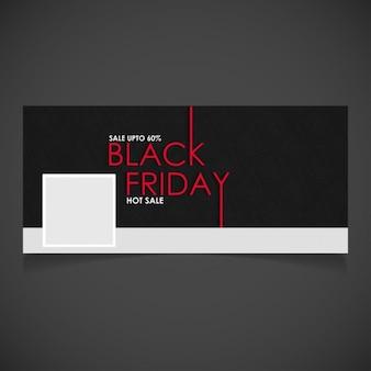 Venerdì nero tipografia creativa facebook banner