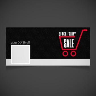 Venerdì nero vendita banner