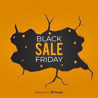 Venerdì nero vendita sfondo nero e oro