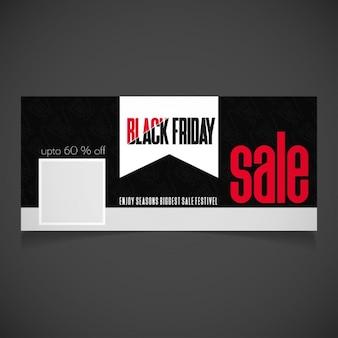 Venerdì nero vendita typography facebook timeline banner