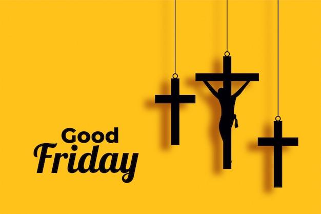 Venerdì santo e il giorno di pasqua attraversare sfondo