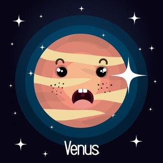 Venere pianeta carattere sfondo dello spazio