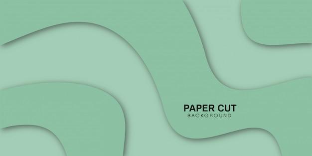 Verde astratto con eleganti forme ondulate.