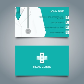Verde biglietto da visita medica
