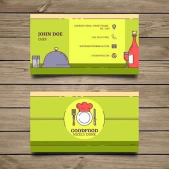 Verde ristorante modello di business card