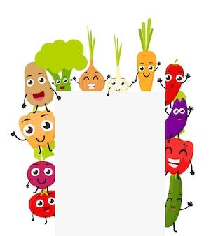 Verdure divertenti del fumetto