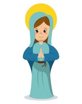 Vergine maria immagine cattolica religiosa