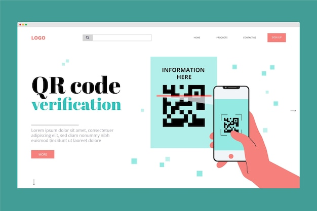 Verifica codice qr - landing page