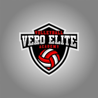 Vero esport logo di vollyball esport