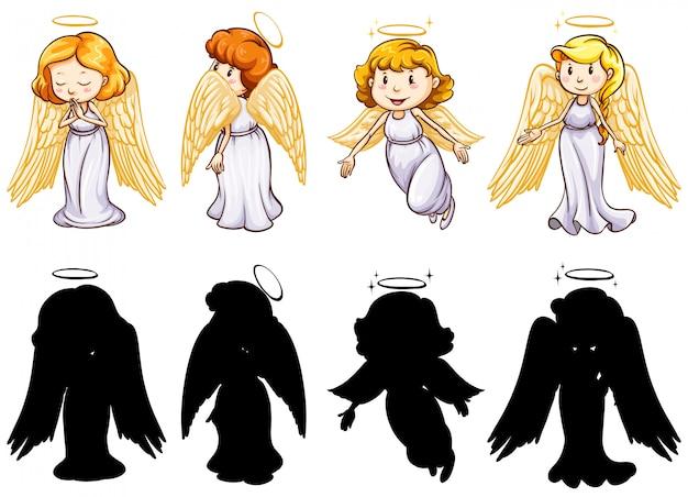 Versione silhouette, colore e contorno