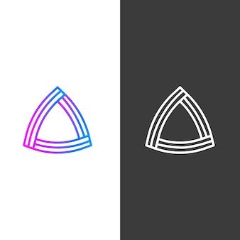 Versioni astratte del logo della società commerciale