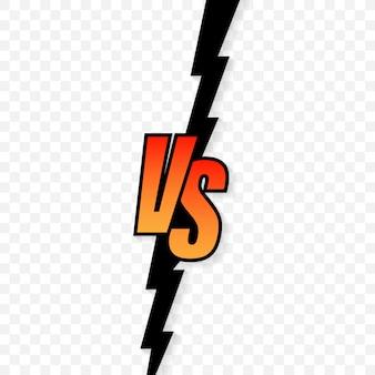 Versus logo vs lettere per lo sport e la competizione di combattimento