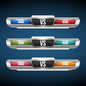 Versus vs team set.