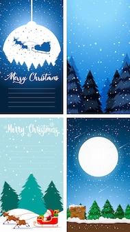 Verticale del fondo della cartolina d'auguri di buon natale
