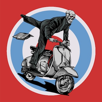 Vespa scooter mod ride by skull