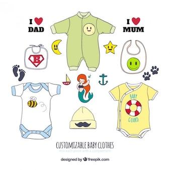Vestiti del bambino personalizzabili