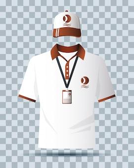 Vestiti della camicia e icona isolata di branding del cappuccio