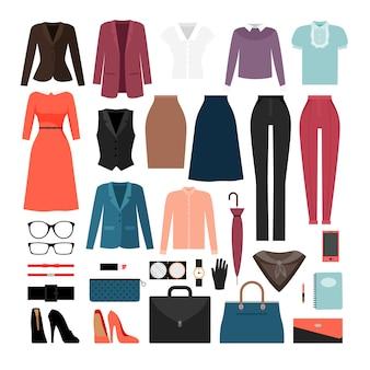 Vestiti e accessori della donna di affari