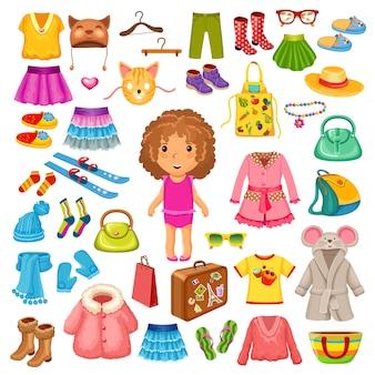 Vestiti e accessori per bambini.