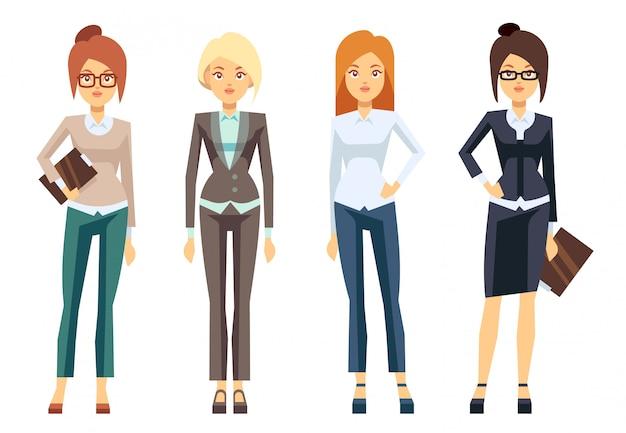 Vestiti europei della donna di affari