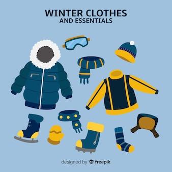 Vestiti invernali disegnati a mano