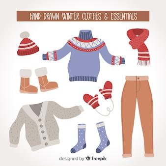 Vestiti invernali ed elementi essenziali