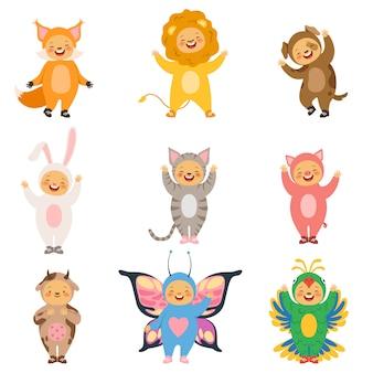 Vestiti per bambini di carnevale, animali divertenti del fumetto del costume