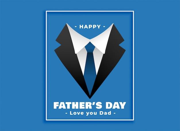 Vestito felice del giorno di padri e fondo del legame