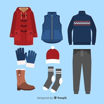 Vestito piatto invernale