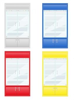 Vetrina dei colori delle attrezzature del negozio
