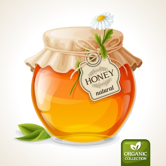 Vetro vaso di miele