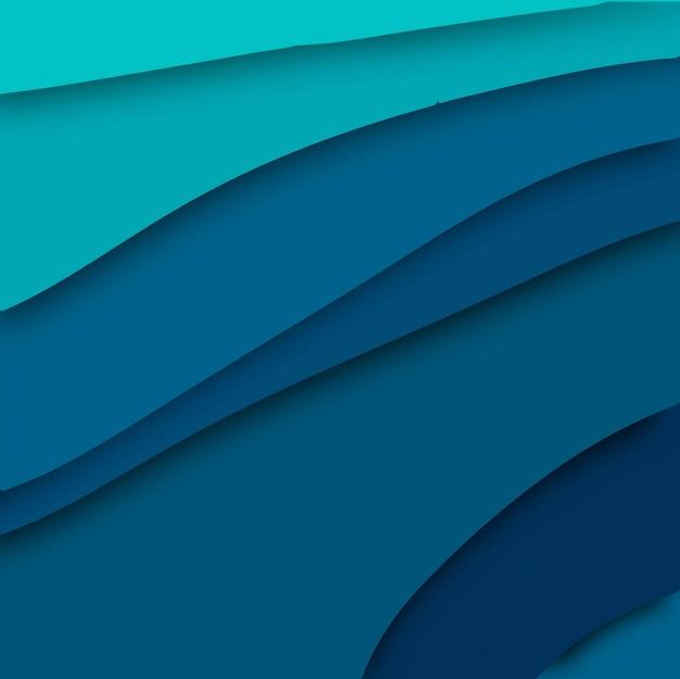 Vettore alla moda del fondo di papercut blu astratto