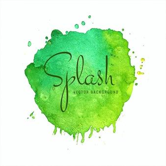 Vettore astratto colorato morbido splash dell'acquerello
