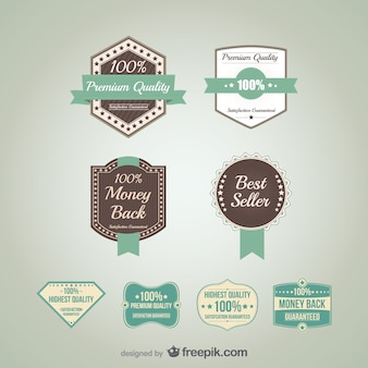 Vettore badge promozionali