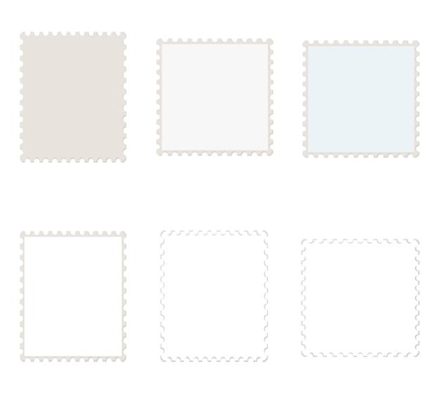 Vettore bianco dei francobolli
